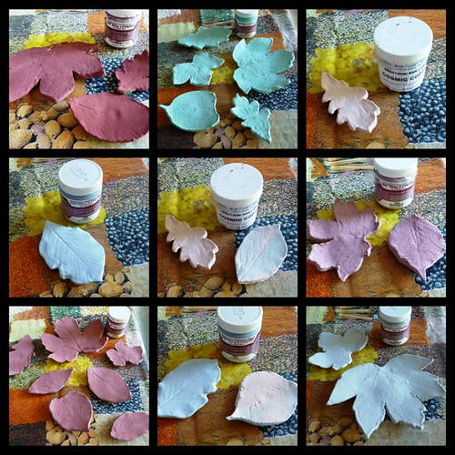 ceramic leaves collage