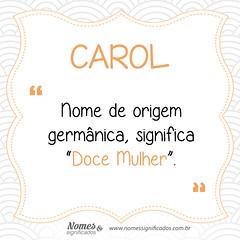 Significado do nome Carol