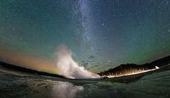 Airglow, Aurora, Milky Way and Geyser