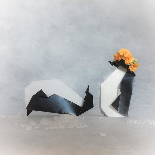 Origami Penguins Illustration
