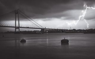 Lightning strikes on Calcutta!