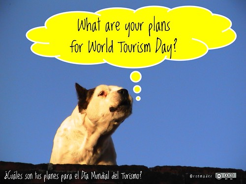 What are your plans for World Tourism Day? = ¿Cuáles son tus planes para el Día Mundial del Turismo? #roofdog