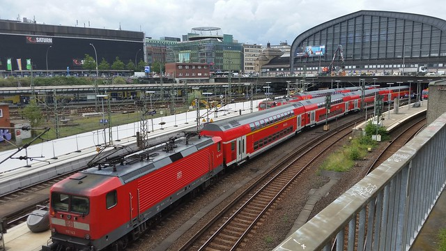 Trains at  Hamburg Hauptbahnhof