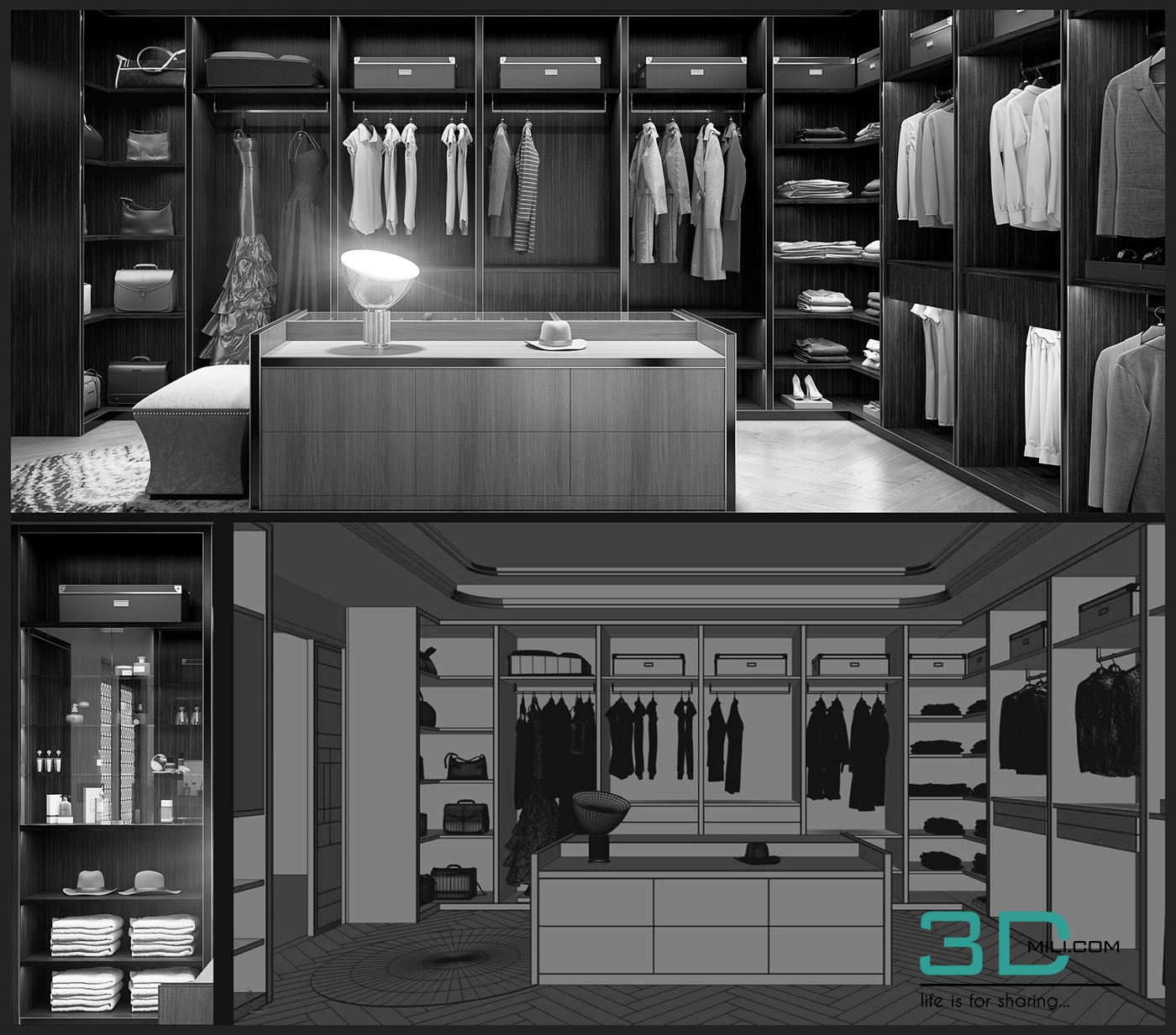 Lux Walk In Closet By Bao Doan 3d Mili Download 3d