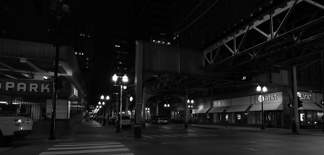 Wells Street at Night - Downtown Chicago - 17 Aug 2017 - 5DS - 140