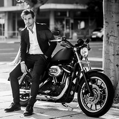 Life is the highway we travel on • Photographed by the talented @markwijs in @capetown.southafrica @capetown @harleyafrica @harleydavidson #style #fashion #quotes #photography #model #suit #capetownphotography #actor #harleyride #harleydavidsonafrica @fus