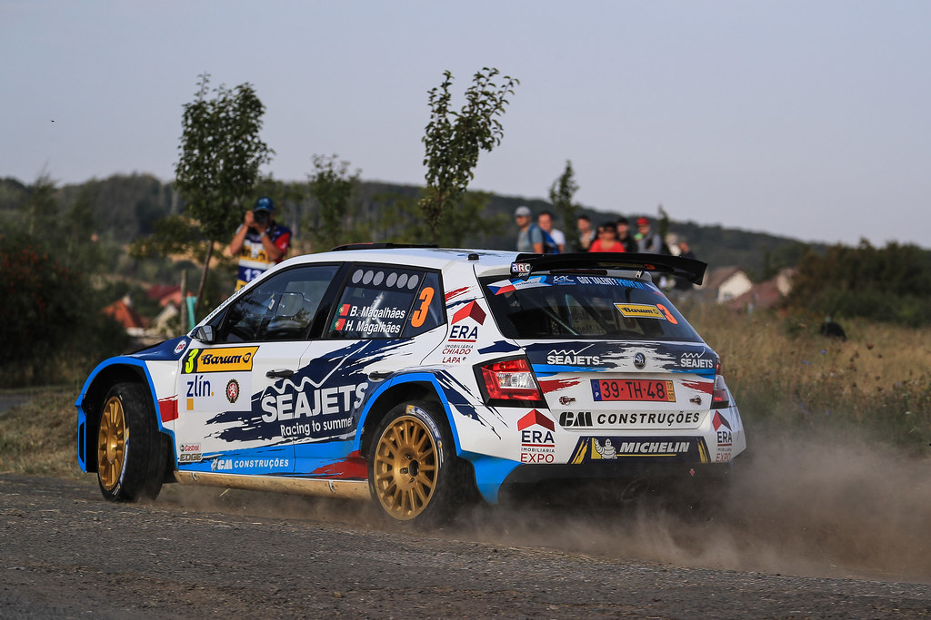 03 MAGALHAES Bruno (PRT)  MAGALHAES Hugo (PRT) Skoda Fabia R5 action during the 2017 European Rally Championship ERC Barum rally,  from August 25 to 27, at Zlin, Czech Republic - Photo Jorge Cunha / DPPI