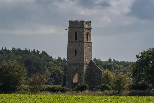 Panxworth Church  ruin