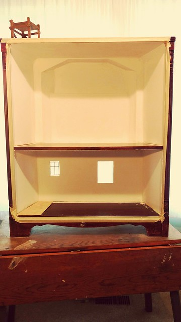 Enid's Cottage: Building a doll home out of a $5 bookcase.