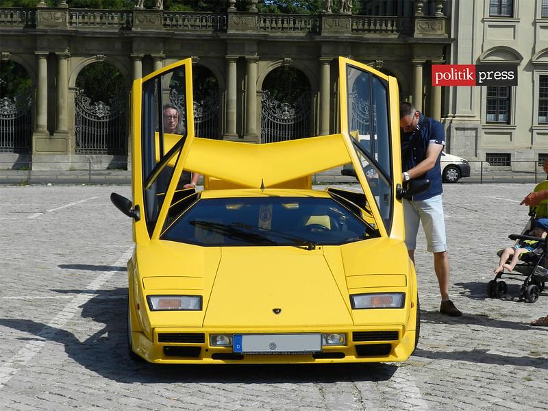 Lamborgini amarilla auto