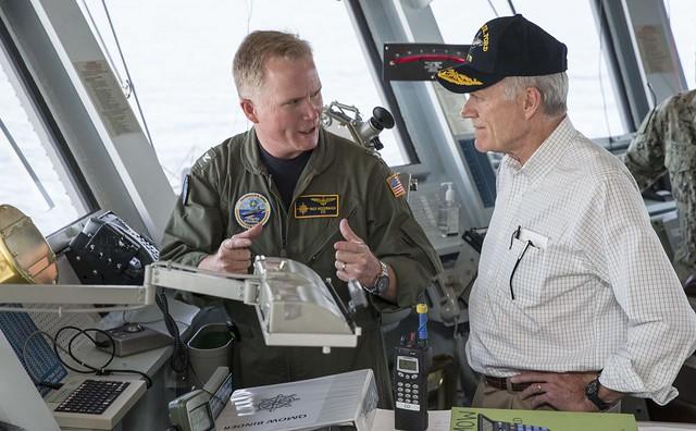 Navy Secretary Richard Spencer visits USS Gerald R. Ford