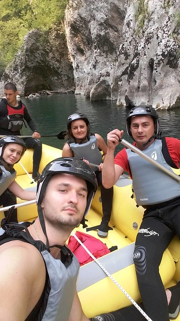 Real rafting on the Neretva river