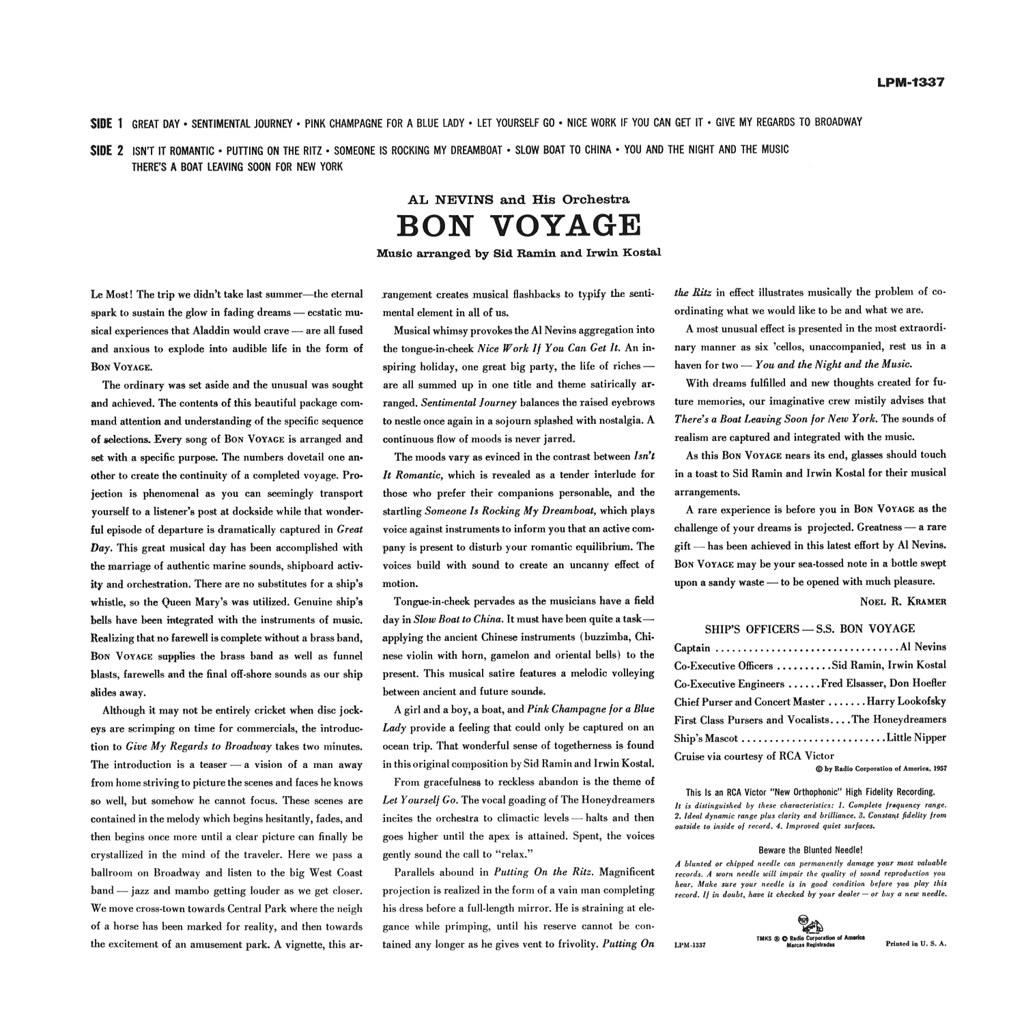 Al Nevins - Bon Voyage