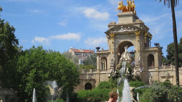 The park's fountain in Citadel Park Passeig de Picasso Barcelone Catalonia Spain