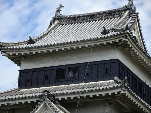松本城の黒い塗り