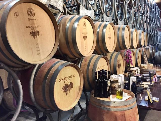 Grgich Hills barrels
