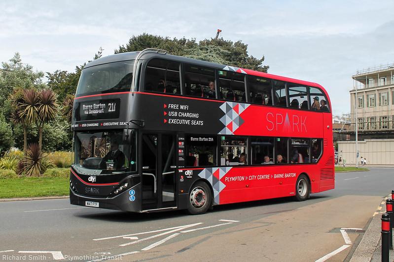 Plymouth Citybus 558 WA17FTF