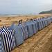 Hoy a la mañana en la playa de Zarautz con gran marea baja