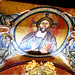 """Jesus Christ Pantokrator"" - mosaic end 13th century at ""Sancta Sanctorum"" in Rome"
