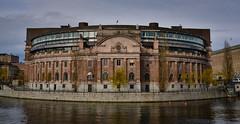 Riksdagshuset - Swedish Parliament - Stockholm Sweden