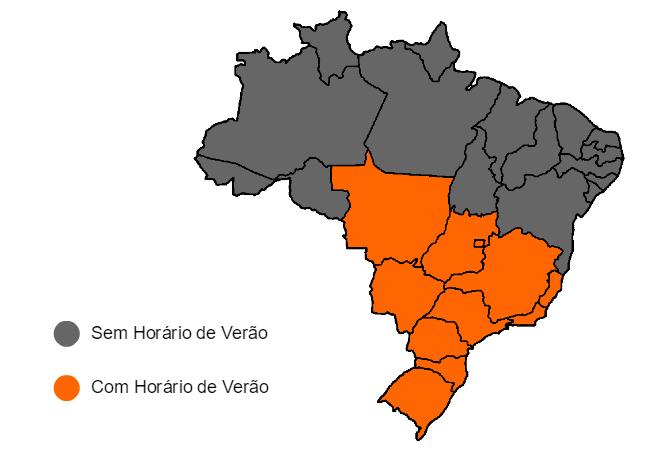 mapa - horario de verão
