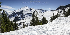 Mt Baker from Artist Point; 21-image pano