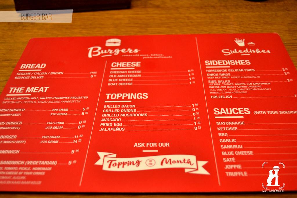 Carta BurgerBar