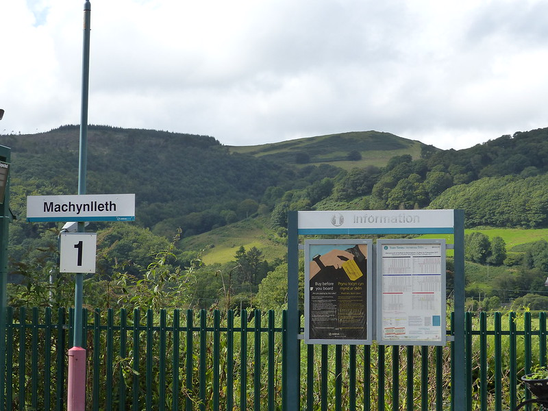 This is a picture of machynlleth station platform