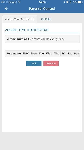 AIR-706P - iOS App - Parental Control