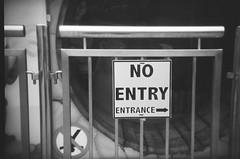 No entry entry