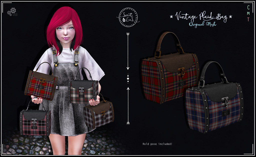 Vintage Plaid Bag Pack #1 - Sweet Lies Original - SecondLifeHub.com