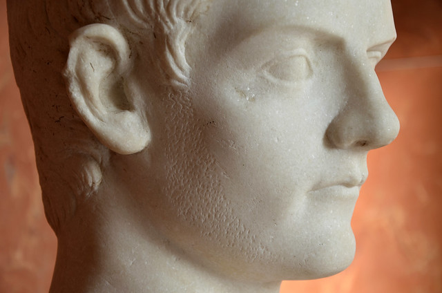 Caligula, he wears a beard in mourning for the death of his sister Drusilla in 38 AD, Louvre Museum