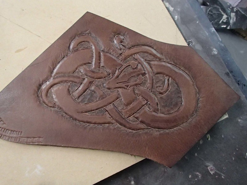 First Attempt at Leather Carving