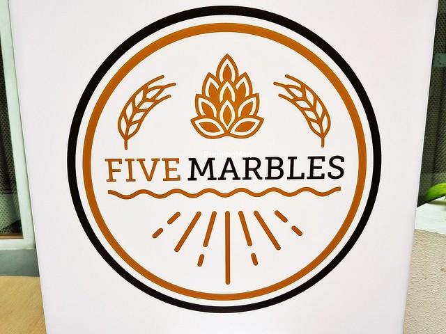 Five Marbles Craft Beer Restaurant Signage
