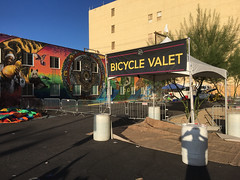 Bicycle Valet in Downtown Las Vegas 09.2017