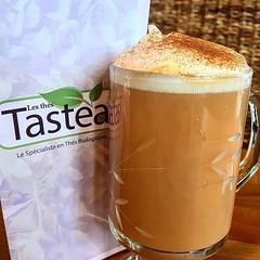 Notre spécialitée latte d'automne citrouille chai. #tastea #citrouille #bio www.tastea.ca