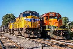 UP 4100 | EMD SD70M | CEFX 7122 | EMD SD40-2 | CSX Memphis Terminal Subdivision