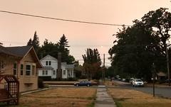 Eagle Creek fire smoke in Forest Grove, Oregon