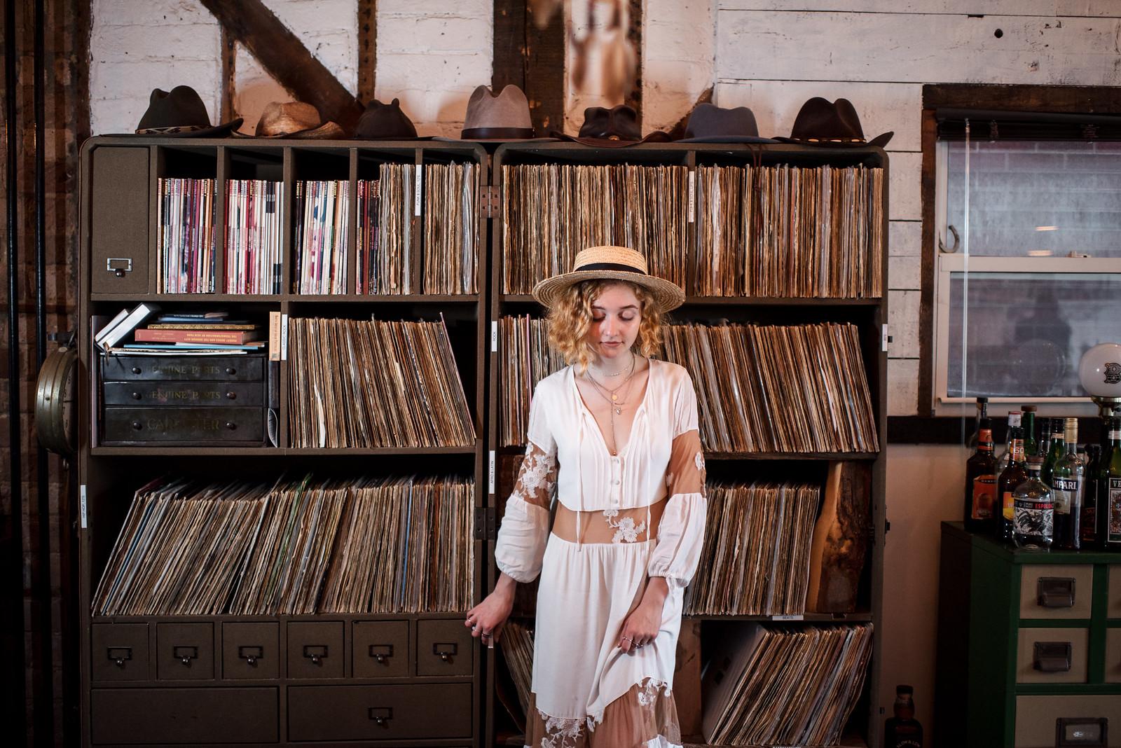 For Love and Lemons Dress Lack of Color Straw Hat on juliettelaura.blogspot.com