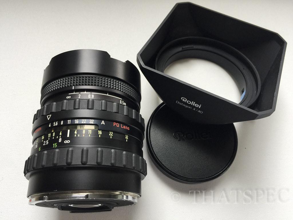 Rolleiflex Zeiss Distagon T* FLE 40mm F4 6008 HY6 SLX 9+