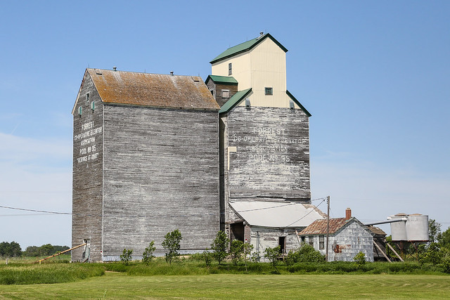 Grain Elevators at Forrest Manitoba