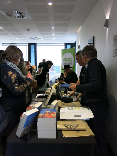 Peter Garrett signing books