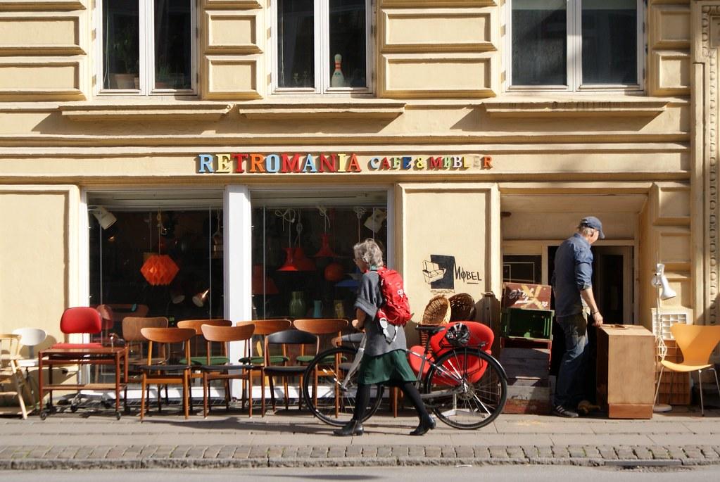 Boutique de mobilier vintage Retromania à Copenhague.