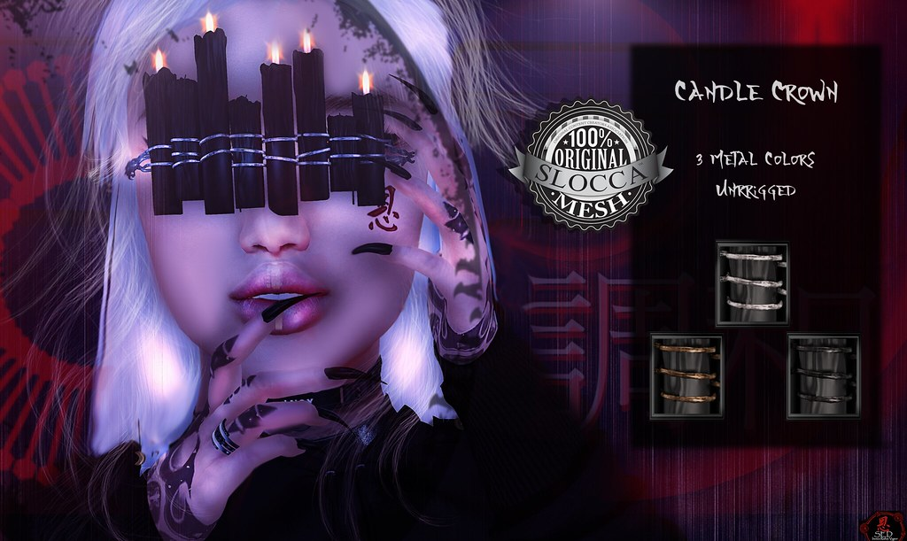 + Occult + Candle Crown Black (3 Metal Colors) - TeleportHub.com Live!