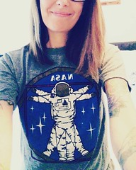 When your @nasa shirt is perfectly geeky in every way... #SpaceNerd