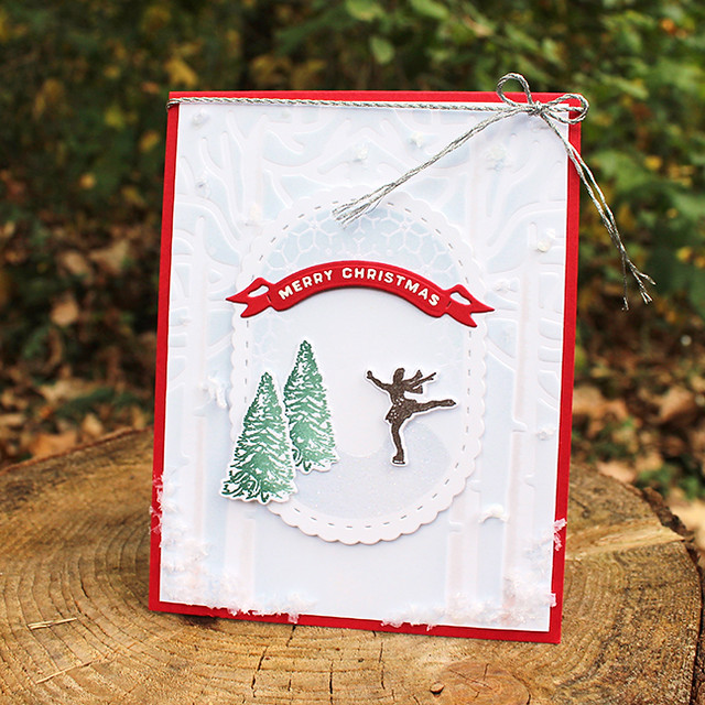 Christmas Figure Skater Card