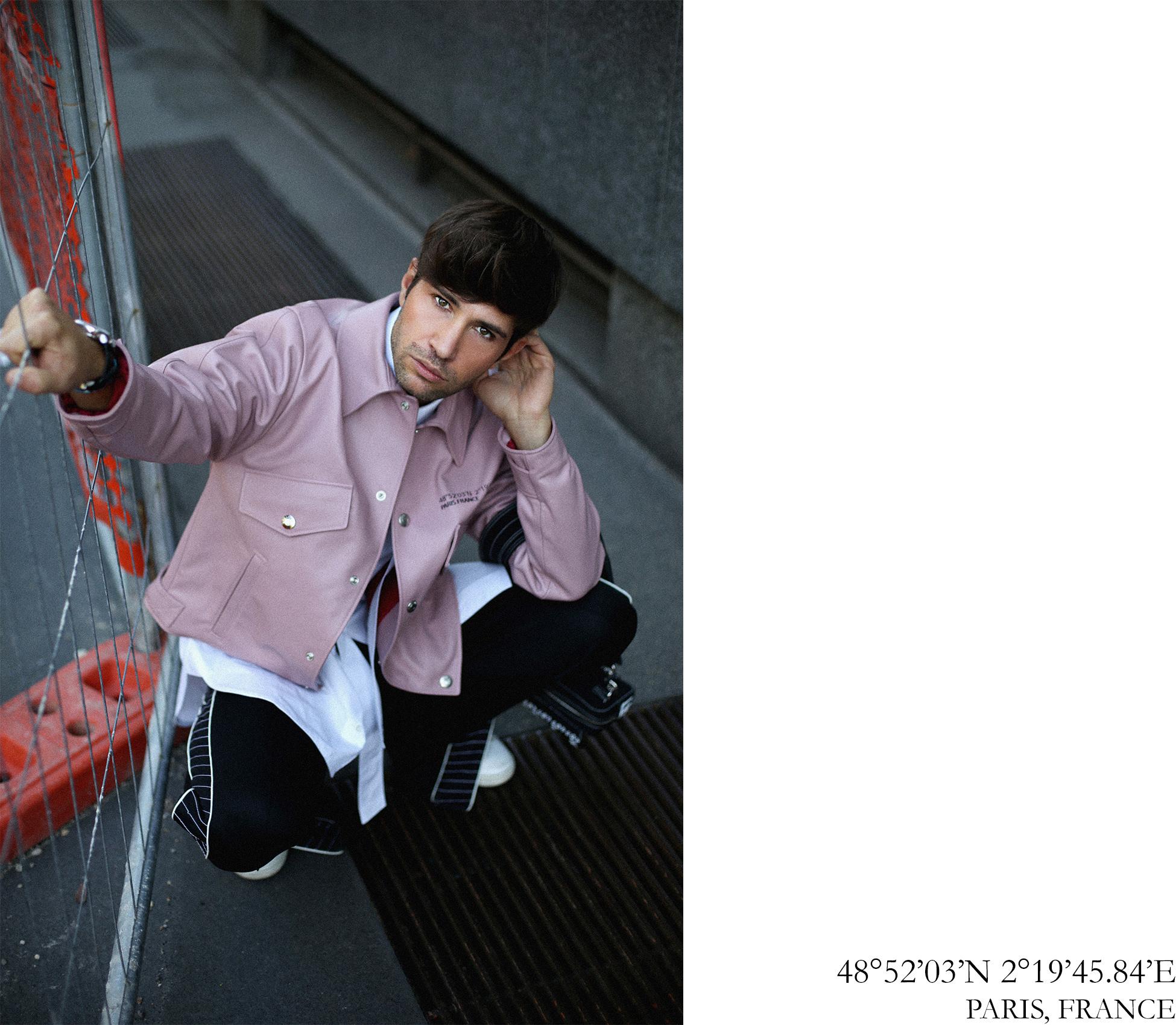 Valentino Spring Summer 2018 pink leather jacket