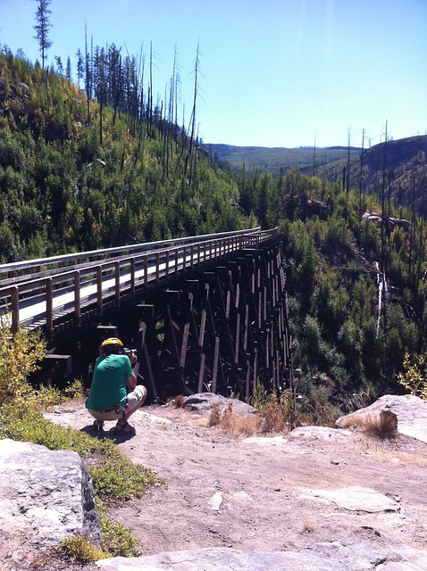 Kelowna Myra pierre taking trestle photo