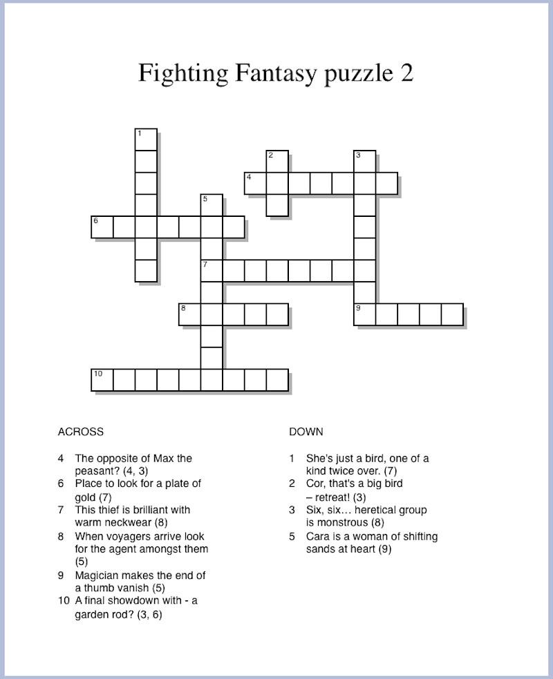 Fighting Fantasy puzzle 2