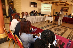 Kinshasa, DR Congo, Beatrice Hotel. 50 journalists trained on sexual exploitation and abuse during a workshop organized by the strategic communication Division with the support of the office of the special advisor of the Head of State in charge of sexual